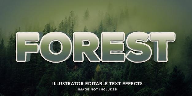 Effetti foresta modificabili in stile testo