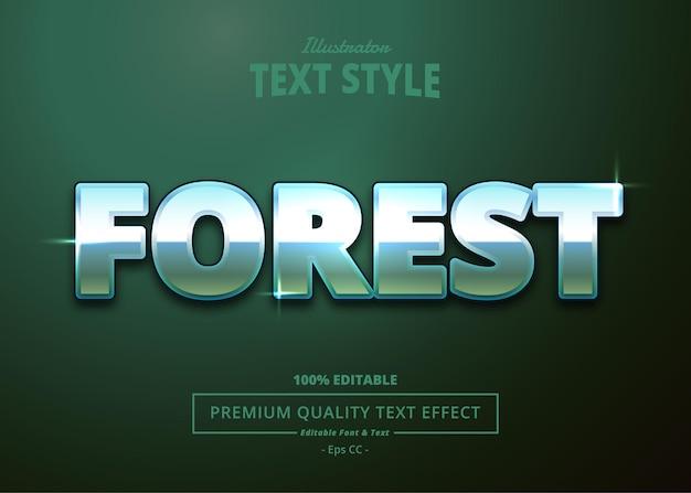 Effetto testo di forest illustrator