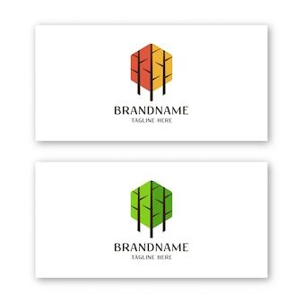 Modello di progettazione di logo di foresta