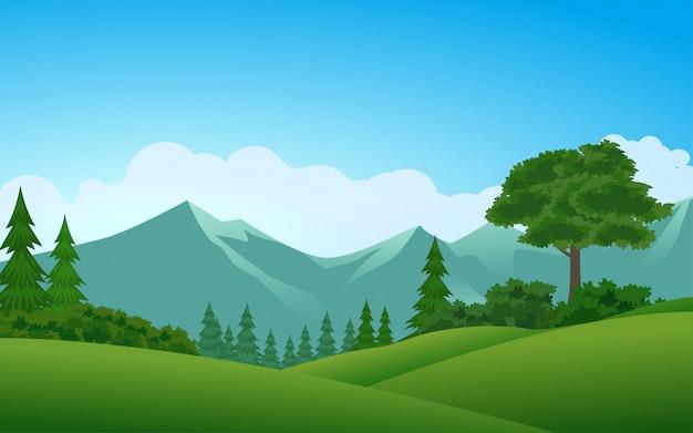 Foresta e montagna illustrazione vettoriale