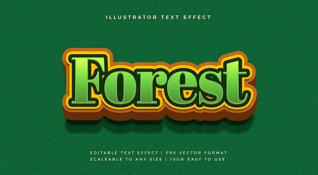 Effetto della natura di forest nature text style