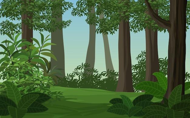 Scena della foresta durante il giorno