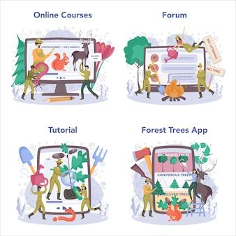 Servizio online o set di piattaforme forester