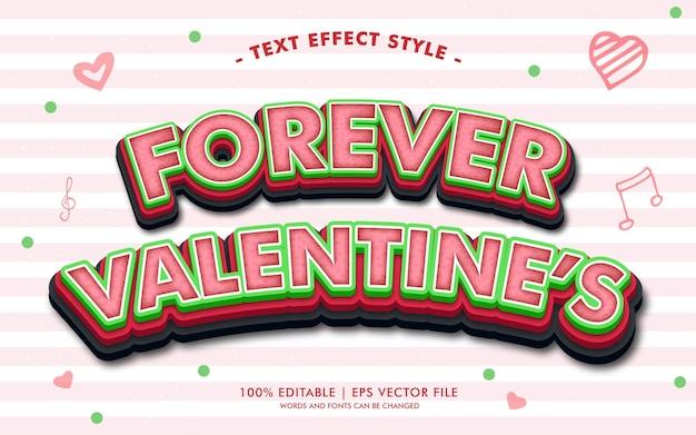 Lo stile degli effetti del testo di forever valentine