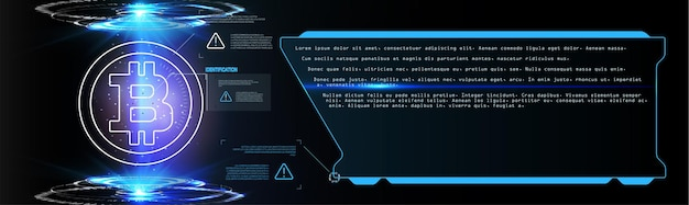 Forex, bandiera di vettore del grafico commerciale del mercato azionario; fondo astratto di finanza aziendale. crypto valuta bitcoin su sfondo blu digital web money modern technology banner