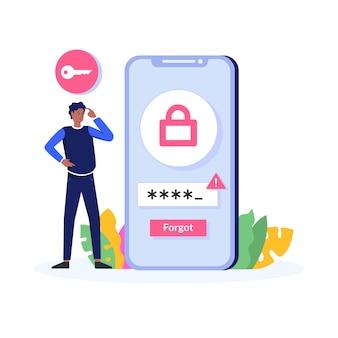 Illustrazione della password dimenticata