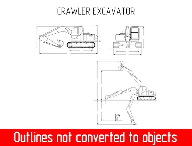 Dimensioni e dimensioni del vettore del modello del profilo del carrello elevatore altezza e larghezza