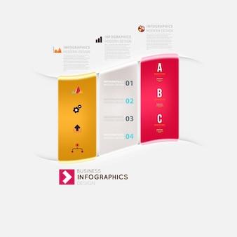 Modulo set etichetta sito web infografica