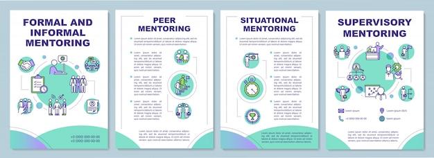 Modello di brochure di mentoring formale e informale