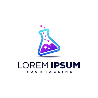Design del logo sfumato in vetro formula