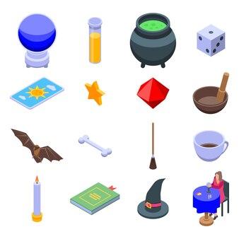 Set di icone di indovino