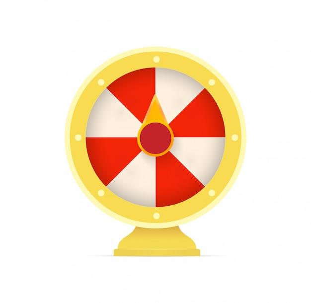 Ruote della fortuna. logo di giochi d'azzardo.
