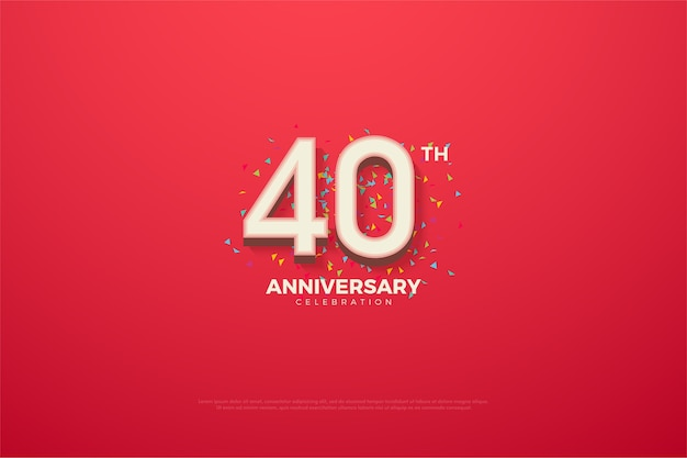 Quaranta anniversario con numero tridimensionale