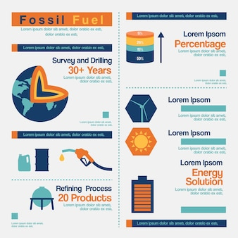 Infografica di combustibili fossili.