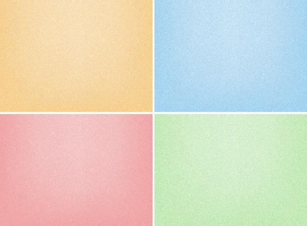 Quattro modelli di sfondo con carte di sabbia