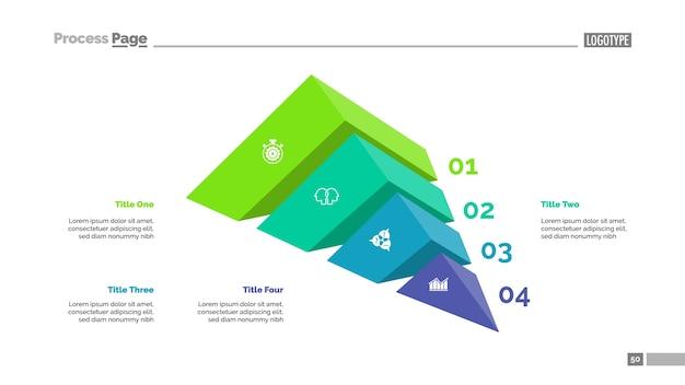 Modello di presentazione di quattro elementi strategia