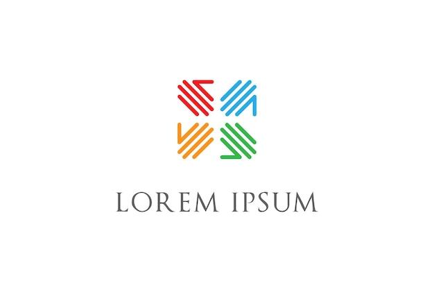 Squadra a quattro mani lavoro di squadra fondazione di beneficenza unità pace diversità cura logo design vector