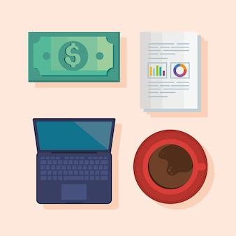Quattro icone delle finanze personali