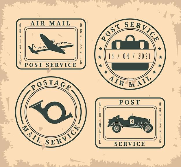 Quattro francobolli
