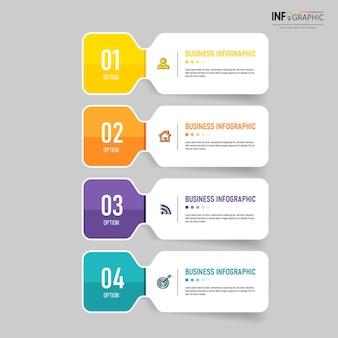 Infografica aziendale in quattro passaggi