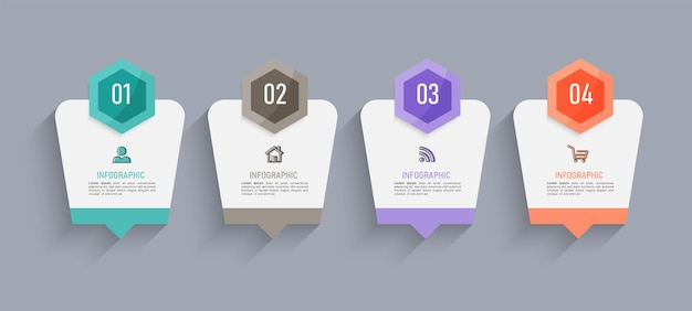 Progettazione di infografica timeline in quattro passaggi