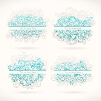 Quattro cornici turchesi