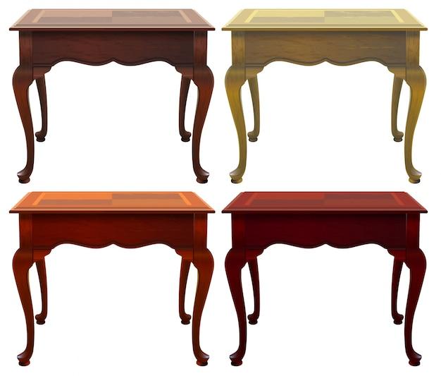 Quattro tavoli di legno
