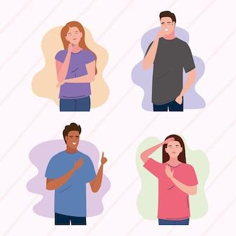 Quattro giovani personaggi