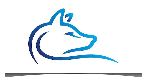 Disegno del logo del personaggio della volpe