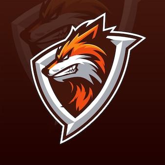 Modello di logo della squadra fox e-sports