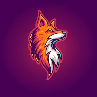 Logo di gioco fox esport