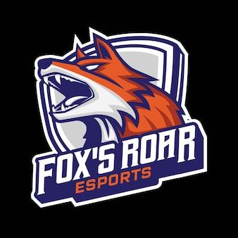 Logo di gioco della mascotte di fox esport