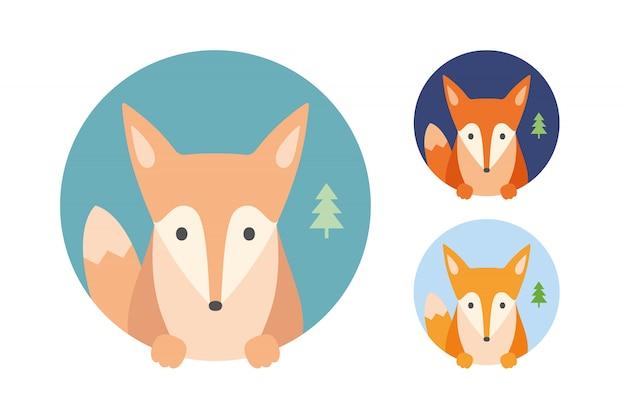Fox o foxy. ritratto in grafica
