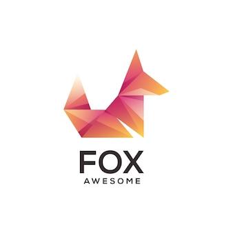 Fox logo geometrico astratto colorato