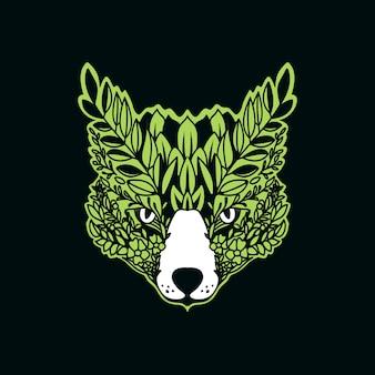 Illustrazione dei fogli della volpe