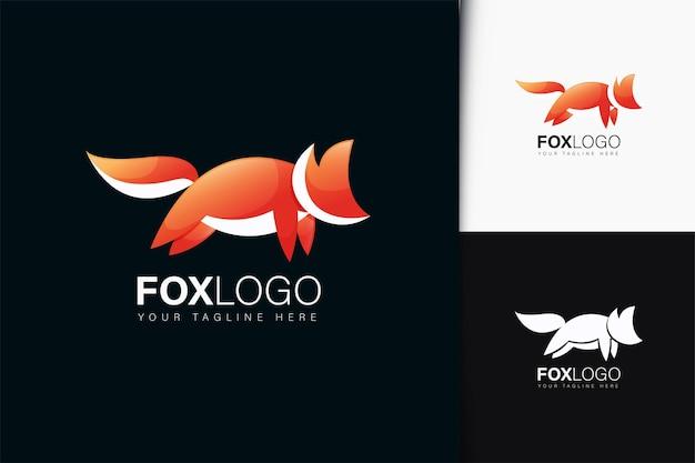 Design del logo della volpe con sfumatura