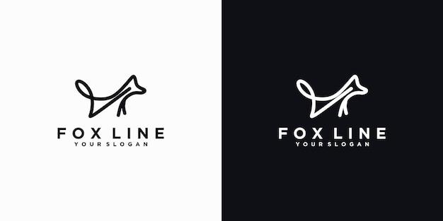 Logo fox con grafica minimalista, logo di riferimento per il business