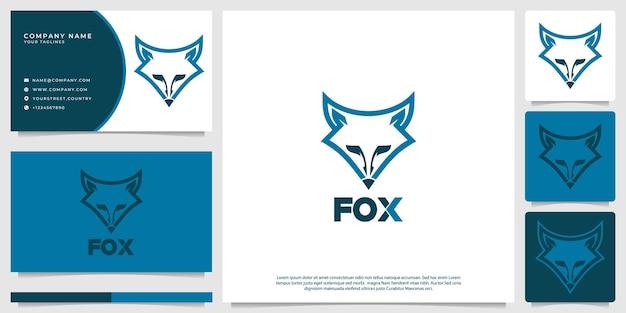 Logo della volpe con uno stile moderno