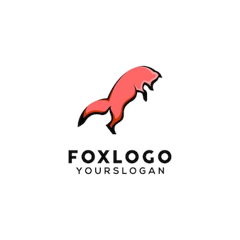 Modello di progettazione del logo della mascotte della volpe