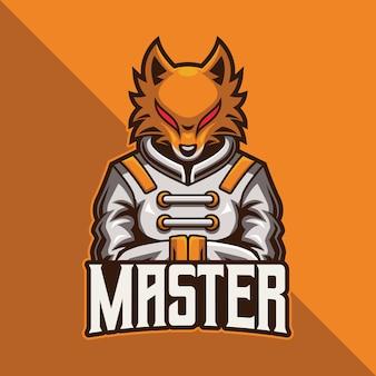 Fox master esport logo gaming