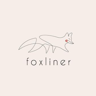 Logo di fox monoline line art