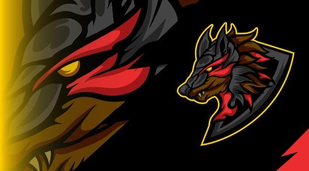 Logo della mascotte dei mostri volpe