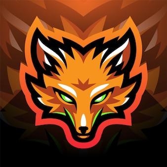 Logo della mascotte sportiva della testa di fox