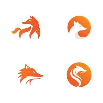 Disegno dell'icona della siluetta dell'illustrazione di vettore della volpe