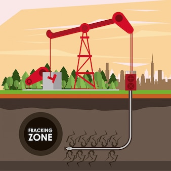 Industria petrolifera della zona di frattura
