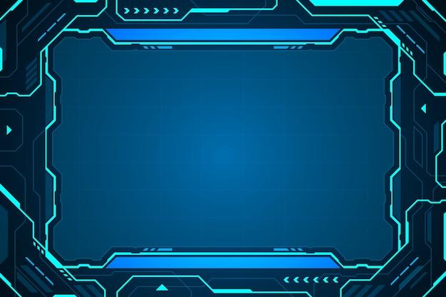 Cornice astratta tecnologia futura interfaccia hud