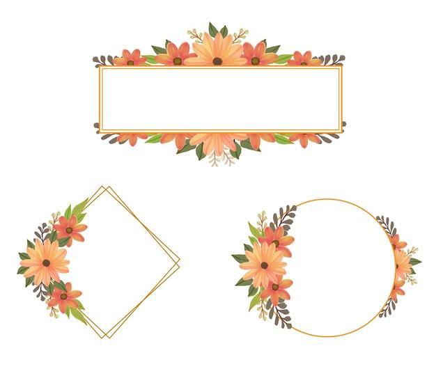 Collezione di cornici di fiori d'arancio bordo del mazzo