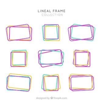 Collezione frame con stile lineare