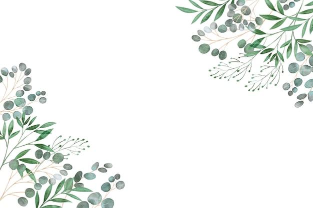 Cornice di foglie copia spazio