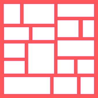 Cornice per foto e immagini, collage, puzzle fotografico. modelli di cornici collage per l'illustrazione